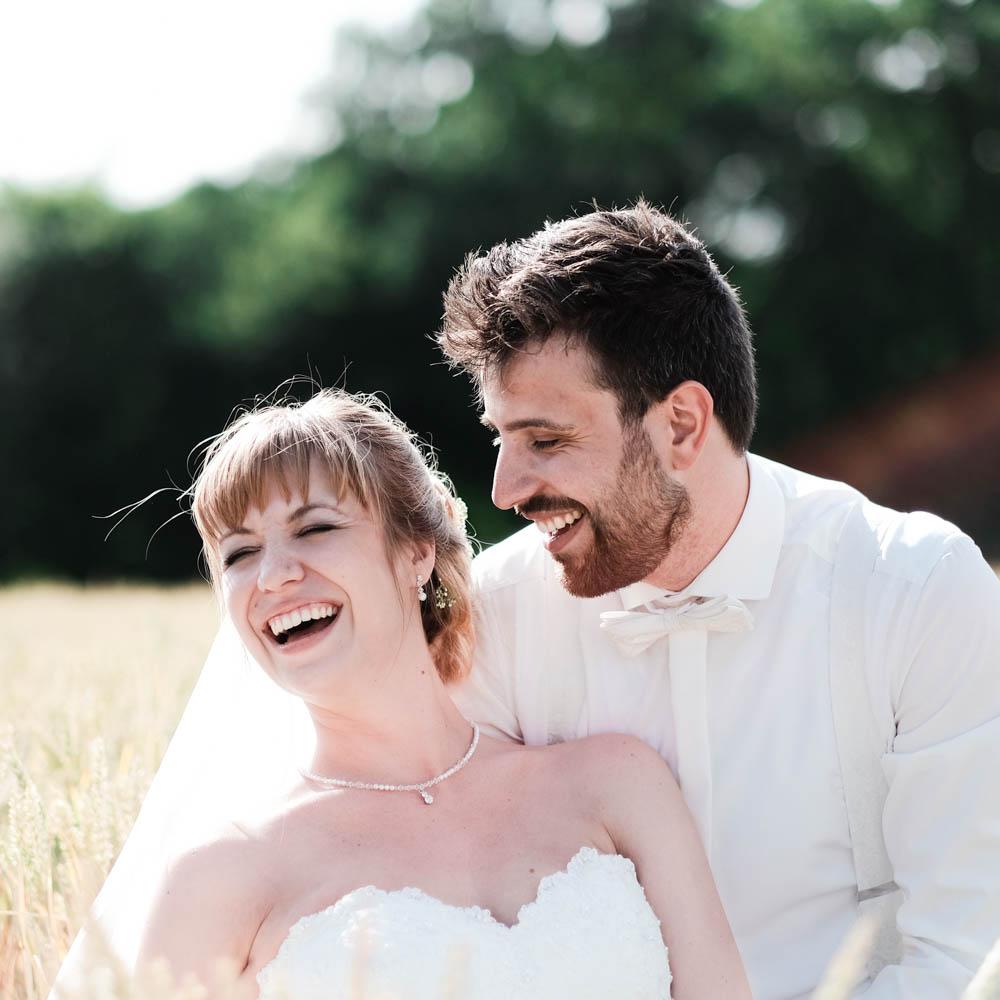 Paar Fotoshooting am Hochzeitstag