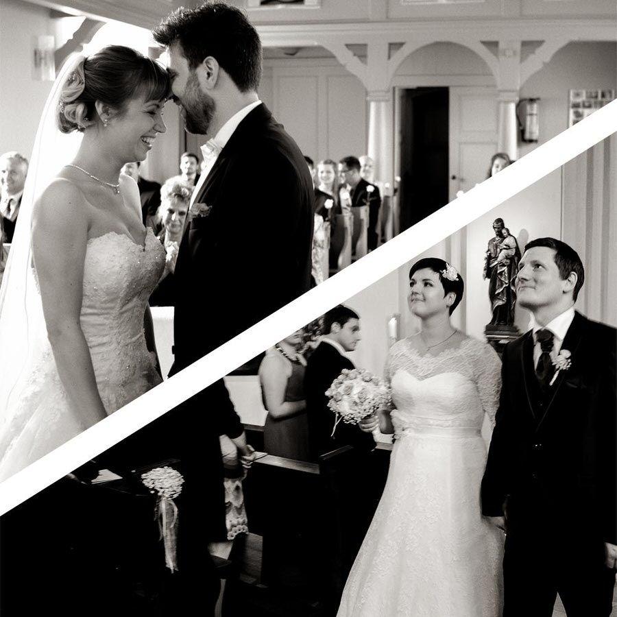 Hochzeitsreportage bei der kirchlichen Trauung
