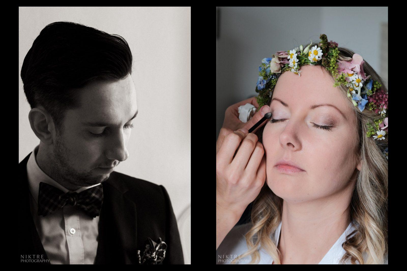 Bräutigam und Braut beim perfekten Start in den Hochzeitstag