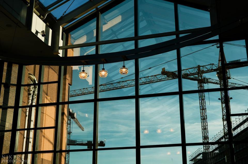 Himmel und Gebäude bei Photokina 2018 in Köln